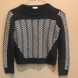 Silence + Noise Acrylic Sweater Size Medium Gray